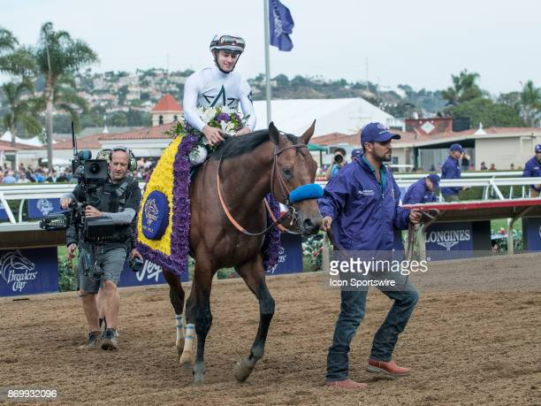 Battle of Midway ridden by Jerry Hollendorfer wins the Las Vegas Breeders' Cup Dirt Mile on November 03 2017 at Del Mar Race Track Fairgrounds in Del...