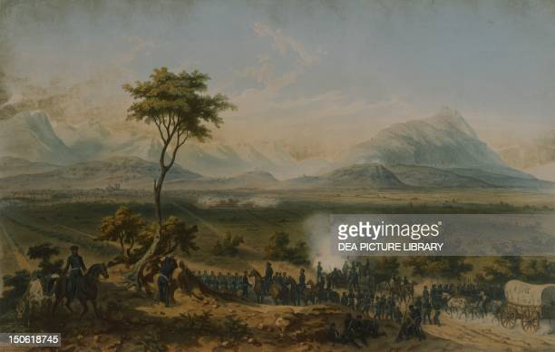 Battle of Monterrey General Taylor's troops September 1846 by Carl Nebel engraving by Jean Baptiste Bayot Adolphe MexicanAmerican War Mexico 19th...