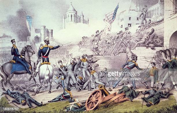 Battle of Monterrey, September 1846. Mexican-American War, Mexico, 19th century.