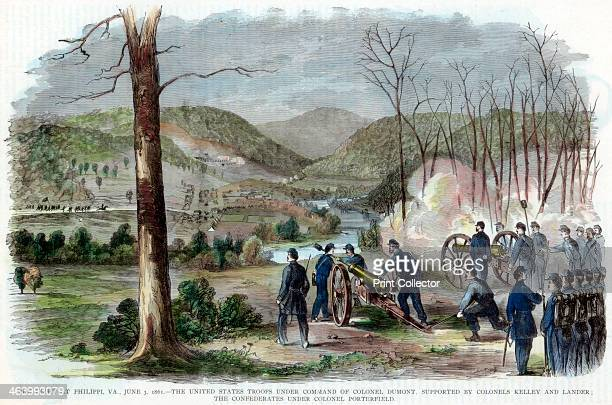 Battle of Philippi West Virginia American Civil War 3 June 1861 Union troops under the command of Colonel Ebenezer Dumont supported by Colonels...