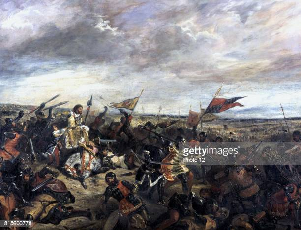 Battle of Poitiers' also called 'King John at the Battle of Poitiers' 19 September 1356 between the English under Edward the Black Prince After the...