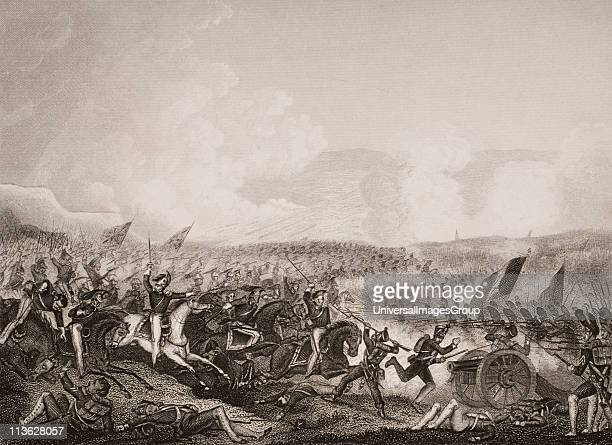 Battle of Salamanca, 22nd July 1812.Engraved by D. Pound after J. Terry. From England's Battles by Sea and Land by Lieut Col Williams, The London...