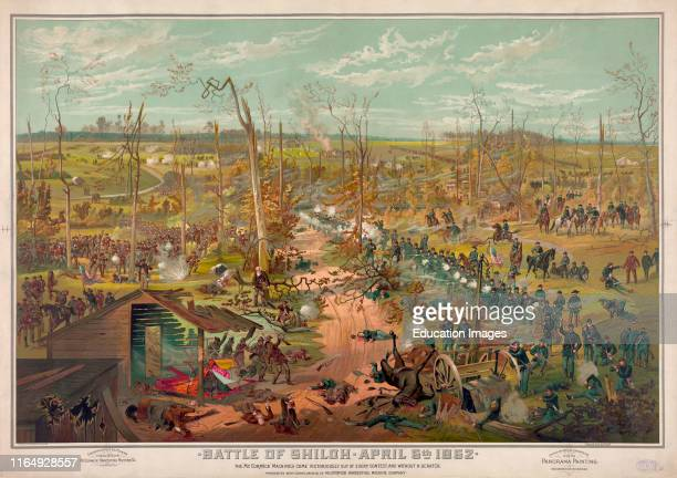 Battle of Shiloh April 6th 1862 McCormick Harvester Twine Binder Advertisement from a Theophile Poilpot Panorama Painting Lithograph Cosack Co 1885