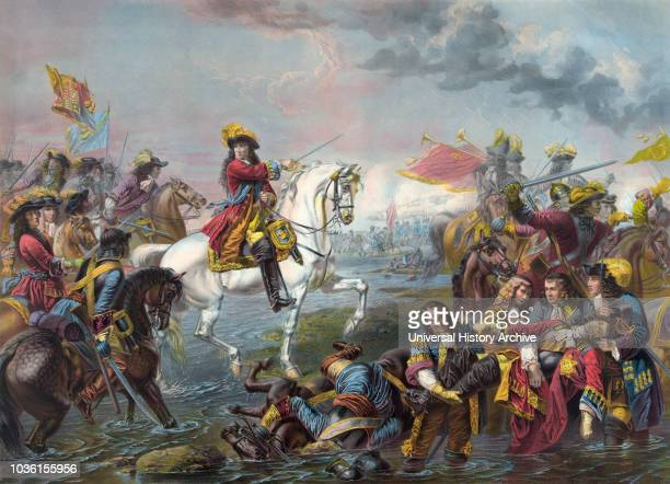 Battle of the Boyne which took place in 1690 near Drogheda Ireland The battle was fought between the armies of the deposed King James II of England...