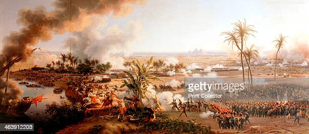 Battle of the Pyramids Egypt 21 July 1798 Napoleon defeated the Mameluke army of the Ottoman Turks conquering Egypt for France