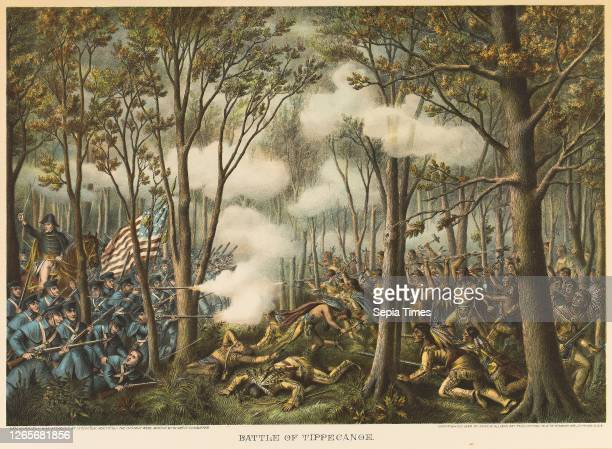 Battle of Tippecanoe Unknown Artist, published by Kurz and Allison , United States, Color lithograph on off-white wove paper, 442 x 635 mm , 480 x...