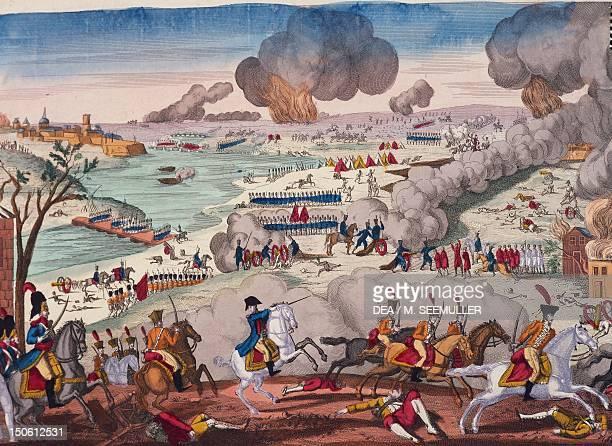 Battle of Wagram July 56 engraving Napoleonic wars Austria 19th century