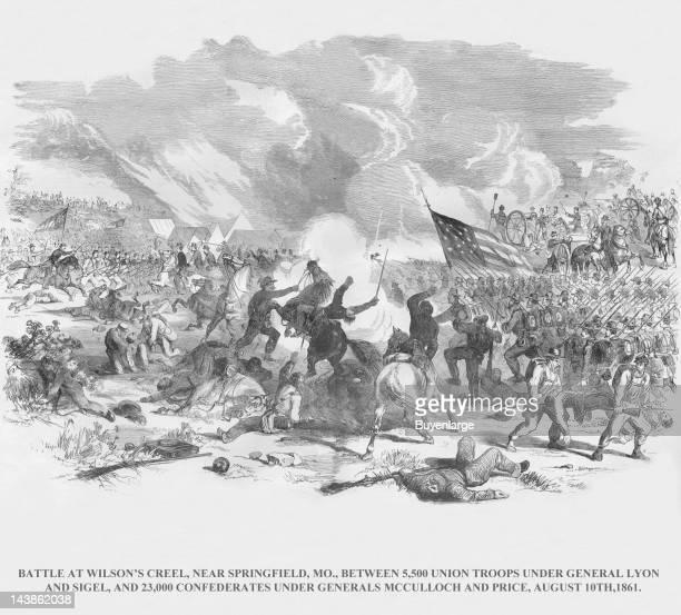 Battle of Wilson's Creek with Lyon Sigel Vs McCulloch Price Springfield Missouri August 10 1861