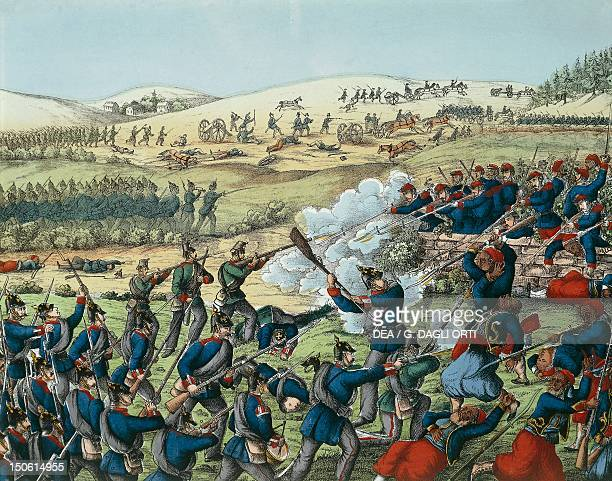 Battle of Wissembourg Prussian attack on Geisberg August 4 1870 FrancoPrussian War France 19th century