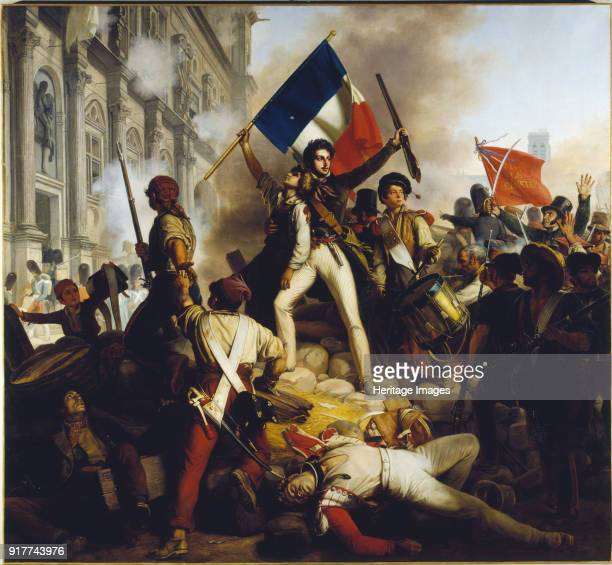 Battle outside the Hôtel de Ville 28 July 1830 Found in the Collection of Petit Palais Musée des BeauxArts de la Ville de Paris