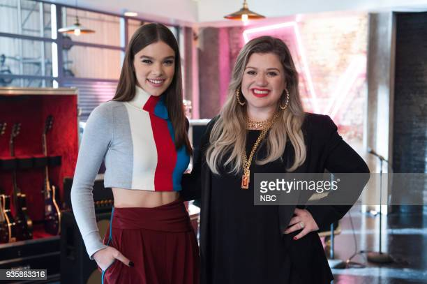 THE VOICE 'Battle Reality' Pictured Hailee Steinfeld Kelly Clarkson