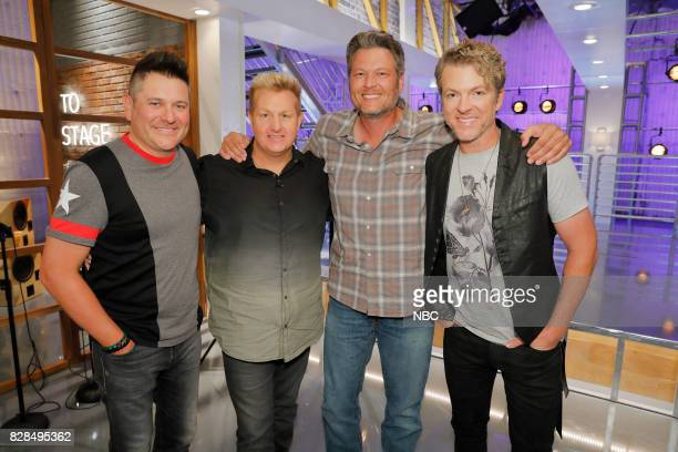 THE VOICE 'Battle Reality' Pictured Jay DeMarcus Gary LeVox 'Rascal Flatts' Blake Shelton Joe Don Rooney