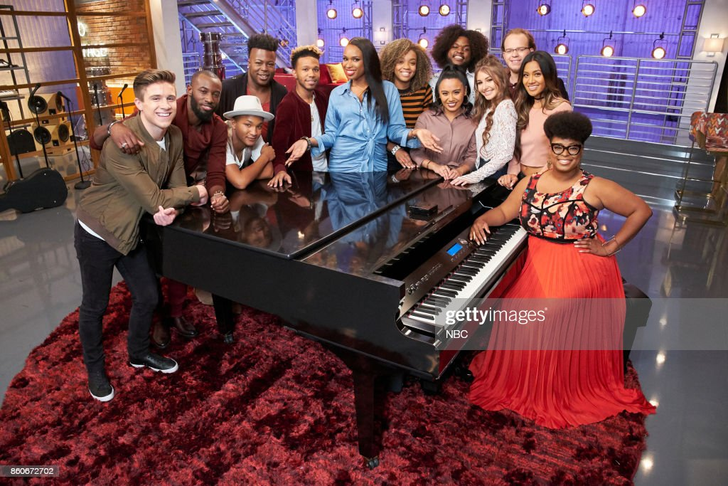 THE VOICE -- 'Battle Reality' -- Pictured: (l-r) Jeremiah Miller, Stephan Marcellus, Eric Lyn, Chris Weaver, Ignatious Carmouche, Jennifer Hudson, ShiAnn Jones, Kathrina Feigh, Davon Fleming, Alexandra Joyce, Lucas Holliday, Maharasyi, Meagan Mcneal --