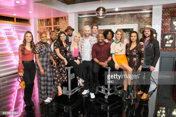 THE VOICE 'Battle Reality' Pictured Team Adam Jackie Verna Miya Bass Davison Mia Boostrom Gary Edwards Genesis Diaz Adam Levine Reid Umstattd Rayshun...