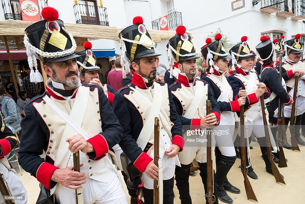 Battle re-enactment of French invasion of Algodonales, Andalusia, Spain
