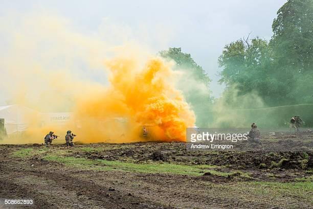 battle re-enactments - afghanistan war stockfoto's en -beelden