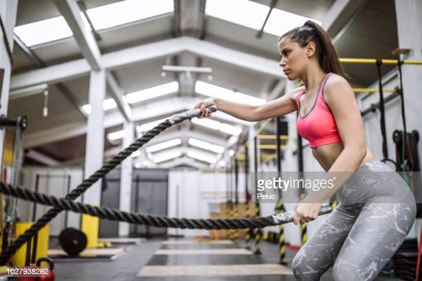 Battle Rope Workout On Cross Training