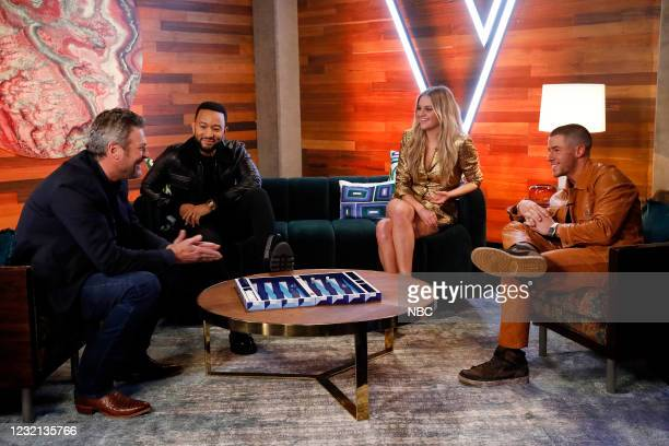 "Battle Rounds"" Episode 2008 -- Pictured: Blake Shelton, John Legend, Kelsea Ballerini, Nick Jonas --"