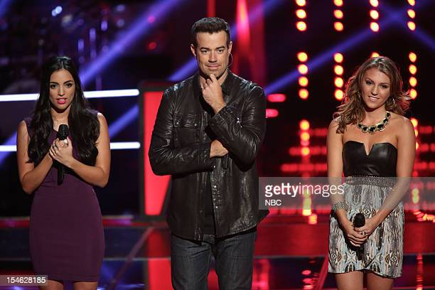 THE VOICE Battle Rounds Episode 314 Pictured Adriana Louise Carson Daly Jordan Pruitt