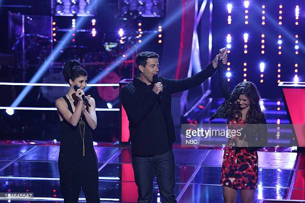 THE VOICE Battle Rounds Episode 507 Pictured Briana Cuoco Carson Daly Jacquie Lee
