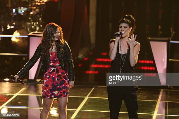 THE VOICE Battle Rounds Episode 507 Pictured Jacquie Lee Briana Cuoco
