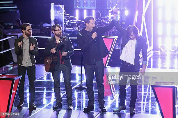 THE VOICE 'Battle Rounds' Episode 608 Pictured Coty Walker and Clinton Walker of Brothers Walker Carson Daly Morgan Wallen