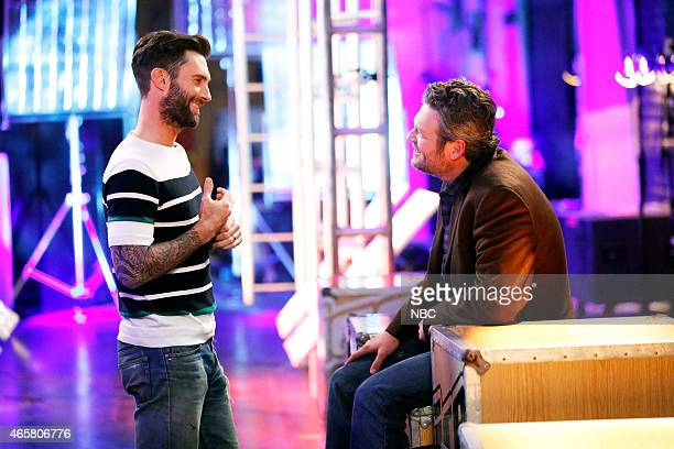 THE VOICE 'Battle Rounds' Episode 806 Pictured Adam Levine Blake Shelton