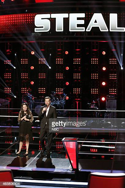"Battle Rounds"" Episode 806 -- Pictured: Hannah Kirby, Carson Daly --"