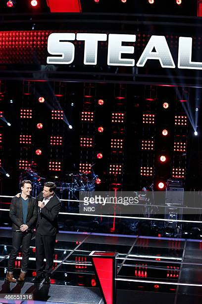 THE VOICE 'Battle Rounds' Episode 807 Pictured Clinton Washington Carson Daly