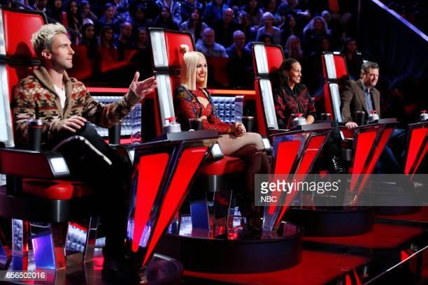 THE VOICE 'Battle Rounds' Pictured Adam Levine Gwen Stefani Alicia Keys Blake Shelton
