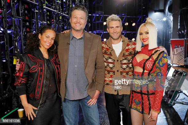 THE VOICE 'Battle Rounds' Pictured Alicia Keys Blake Shelton Adam Levine Gwen Stefani