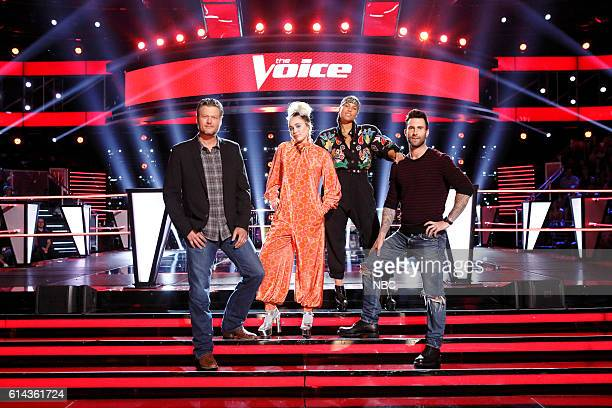THE VOICE 'Battle Rounds' Pictured Blake Shelton Miley Cyrus Alicia Keys Adam Levine