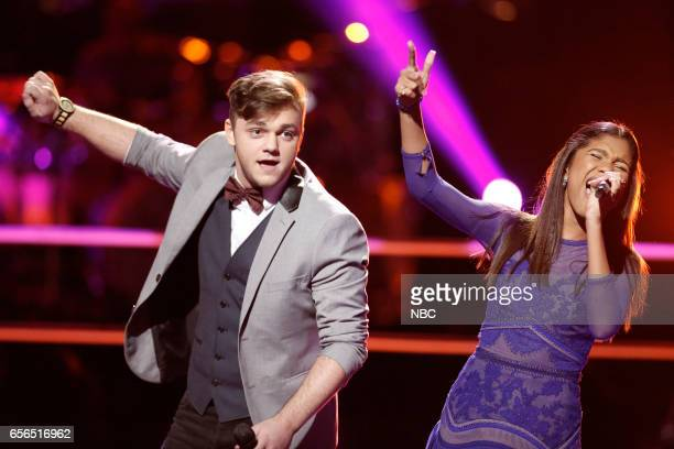 THE VOICE 'Battle Rounds' Pictured Dawson Coyle Aliyah Moulden