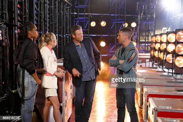 THE VOICE Battle Rounds Pictured Jennifer Hudson Miley Cyrus Blake Shelton Adam Levine