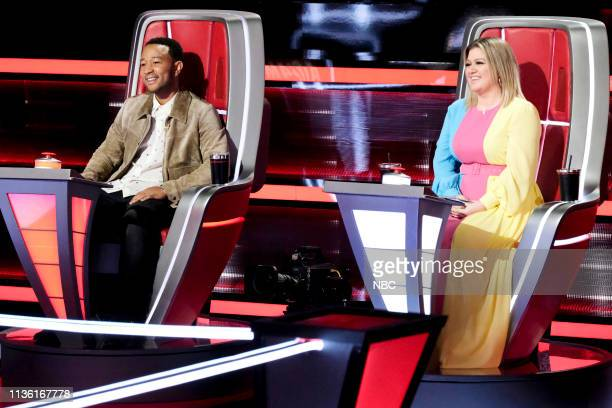 THE VOICE Battle Rounds Pictured John Legend Kelly Clarkson