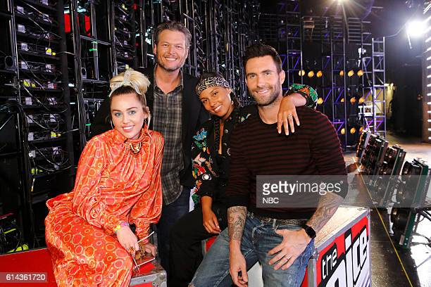 THE VOICE 'Battle Rounds' Pictured Miley Cyrus Blake Shelton Alicia Keys Adam Levine