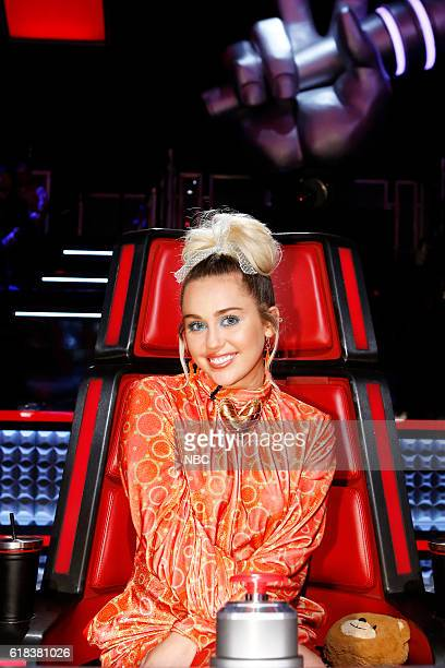 THE VOICE Battle Rounds Pictured Miley Cyrus