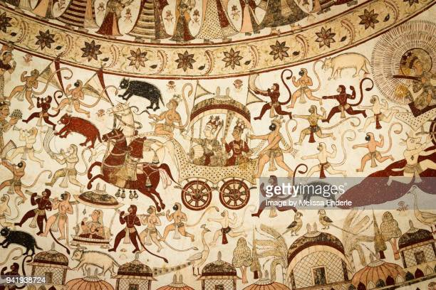 battle scene with thakur sardul singh riding a carriage - mythology stock pictures, royalty-free photos & images