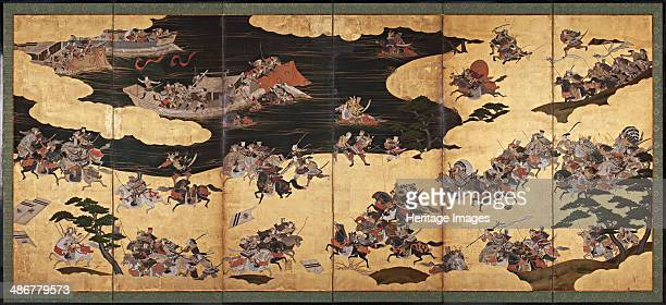 Battle scenes from the Tale of Heike First third of 17th cen Artist Anonymous