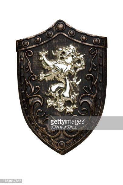 battle shield - medieval stock pictures, royalty-free photos & images