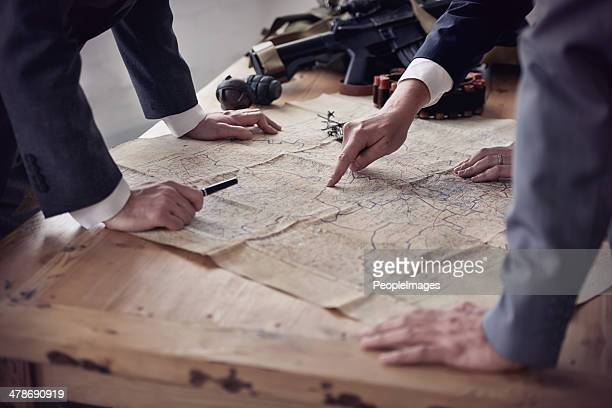 battle tactics - maps stock photos and pictures