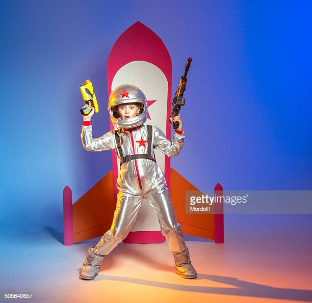 battle warrior cosmonaut - studio shot stockfoto's en -beelden