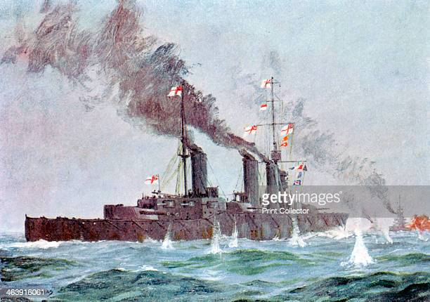 Battlecruiser HMS 'Lion' coming into action Battle of Jutland 31 May 1 June 1916 Jutland was the only fullscale engagement between the British and...