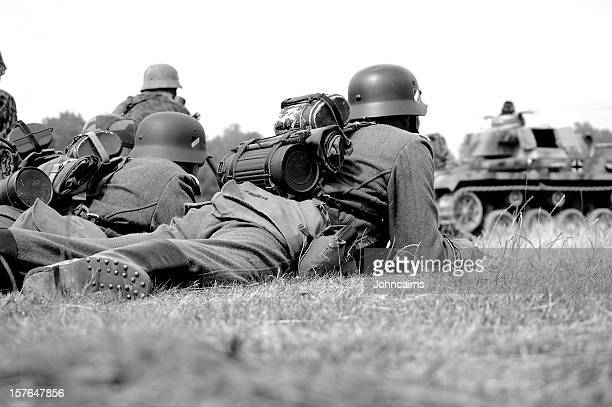 battlefield troops. - world war ii stock pictures, royalty-free photos & images