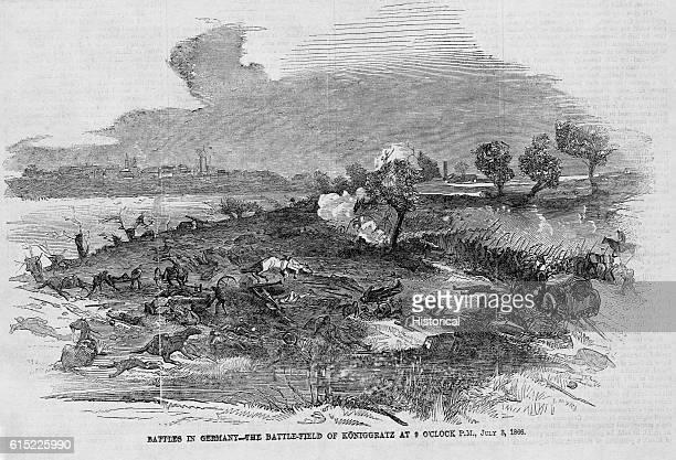 Battles in GermanyThe Battlefield of Koniggratz at 9 O'Clock PM July 3 1866