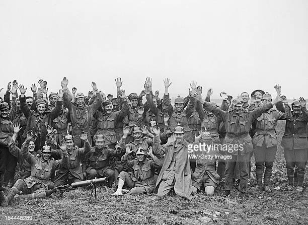 Battles Of The Somme 1st July 18th November 1916 Battle of Pozieres Ridge 23 July 3 September Men of the 1st Anzac Division some wearing German...
