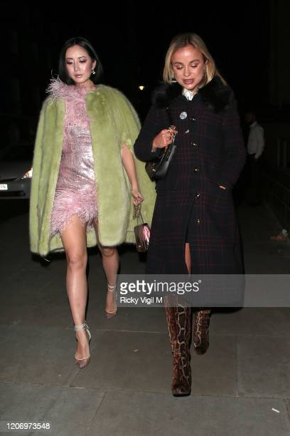 Batty Batchz and Lady Amelia Windsor seen attending LOVE Magazine party at The Standard during LFW February 2020 on February 17 2020 in London England