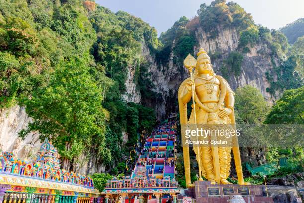 batu caves temple in malaysia - malaysia stock pictures, royalty-free photos & images