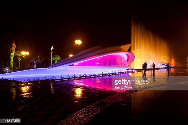 Batumi at night with fountains, Georgia