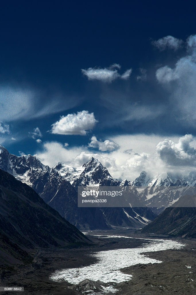 Batura glacier : Stock Photo